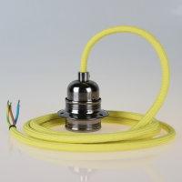 Textilkabel Pendelleitung gelb mit E27 Fassung Metall...