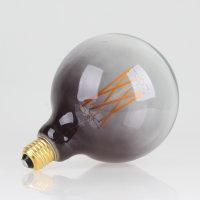 Danlamp E27 Vintage Deko LED Mega Edison Grey Lampe 125mm 240V/2,5W
