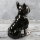 "Spardose Hund ""Funny Bulldog"" französische Bulldogge Höhe 19cm aus Keramik schwarz silber"
