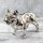 "Spardose Hunde ""Bulli Paar"" französische Bulldogge aus Keramik silber"