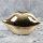 "Spardose Lippen ""The Kiss"" Länge 20cm aus Keramik gold"