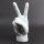 """Deko Keramik Hand """"Peace"""" 24,5cm weiß"""