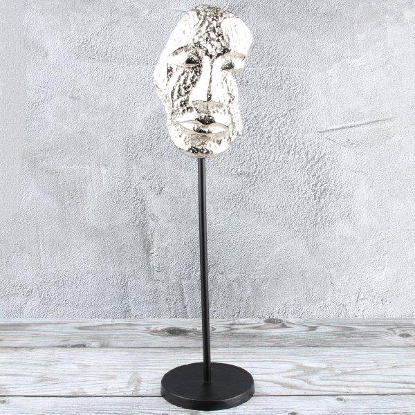 """Deko Design Skulptur Maske """"Mask One"""" aus Aluminium 43,5cm"""