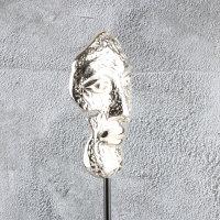 """Deko Design Skulptur Maske """"Mask Two"""" aus Aluminium 43,5cm"""