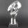 """Deko Design Skulptur denkendes Gesicht """"Thinking Two"""" aus Keramik 30cm"""