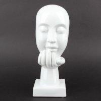 """Deko Design Skulptur denkendes Gesicht """"Thinking..."""