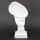 """Deko Design Skulptur denkendes Gesicht """"Thinking Two"""" aus Keramik weiß 30cm"""