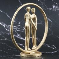 """Deko Design Skulptur """"Forever"""" aus Eisen goldfarben 18x19cm"""