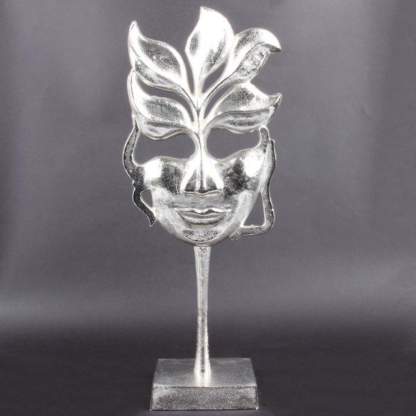 """Deko Design Skulptur """"Flame Lady"""" aus Aluminium 50cm Silber"""