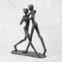 "Deko Design Skulptur Figur ""Dancing"" aus Polypropylen 17cm brüniert"