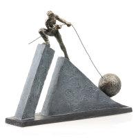 "Deko Design Skulptur Figur ""Kraftakt"" aus..."