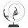 """Deko Design Skulptur Figur """"Patience"""" 41cm bronzefarben"""