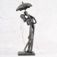"Deko Design Skulptur Figur ""Umbrella"" 18cm brüniert"