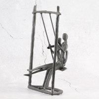 "Deko Design Skulptur Figur ""Schaukel"" 23cm..."